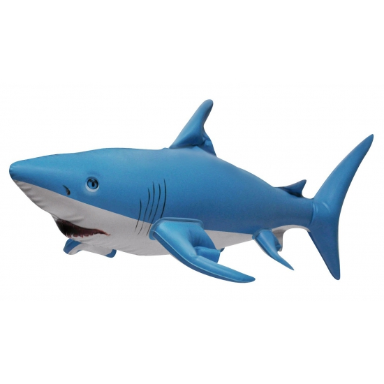 Opblaas haai blauw 61 cm Multi