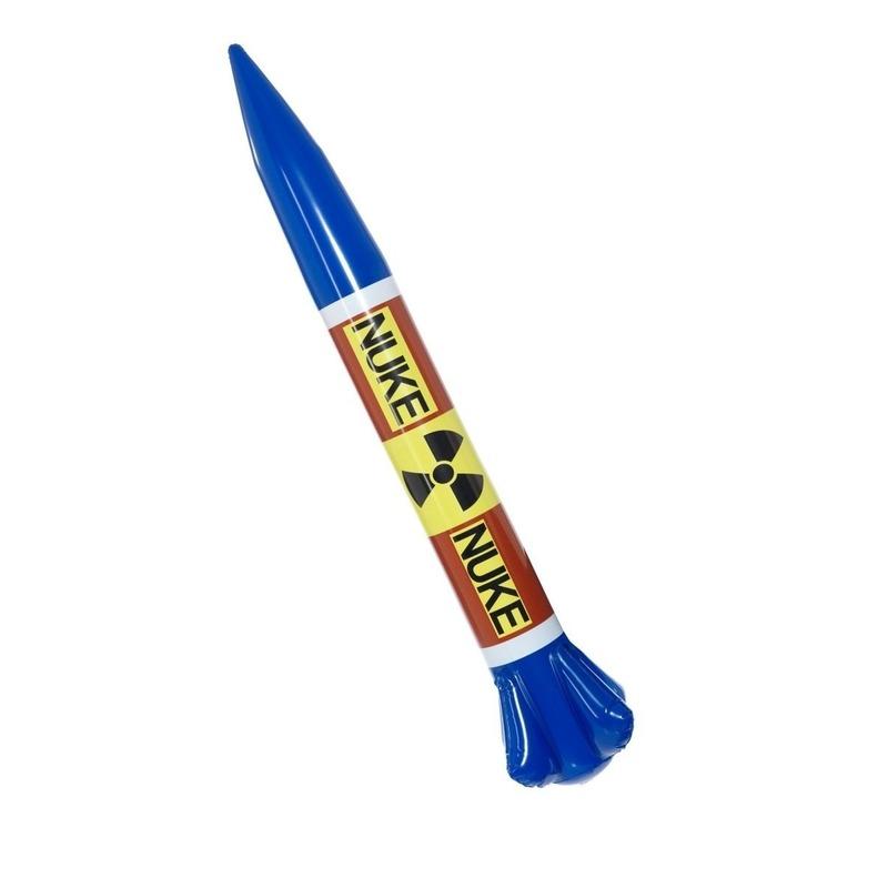 Opblaas raket van Kim Jung-un 87 cm Multi