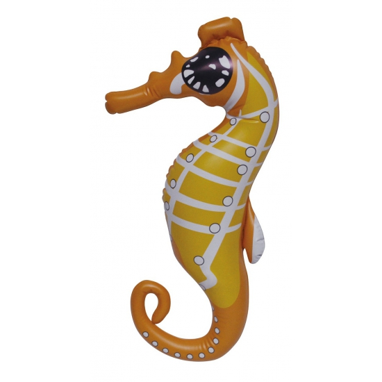 Opblaas zeepaard oranje 51 cm