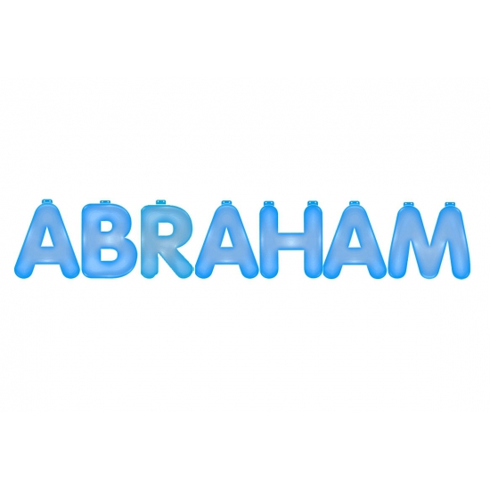 Opblaasbare letters Abraham blauw Multi