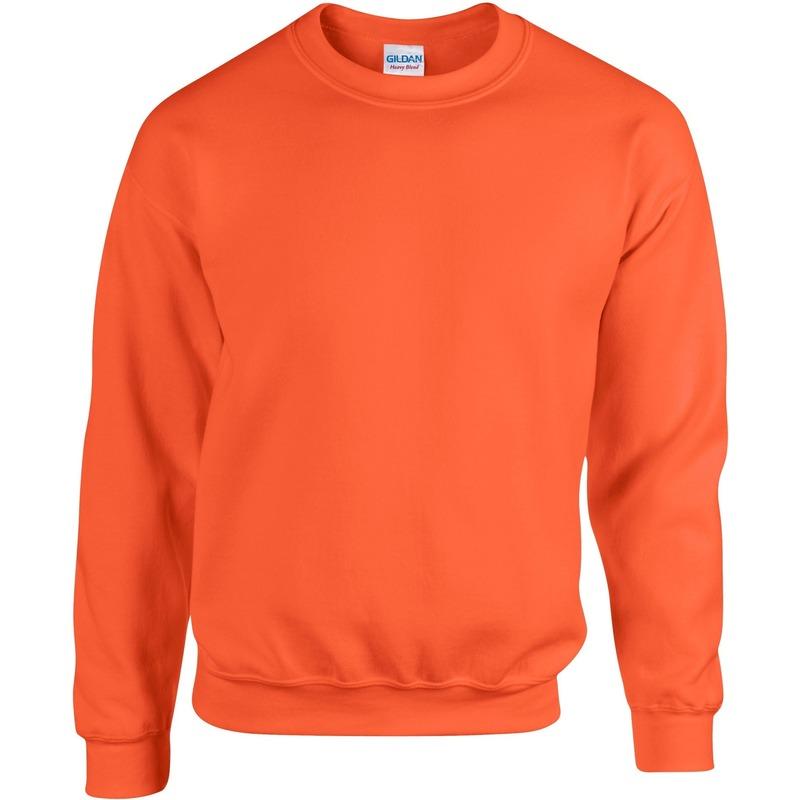 Oranje heren truien sweaters met ronde hals XL Sporttruien