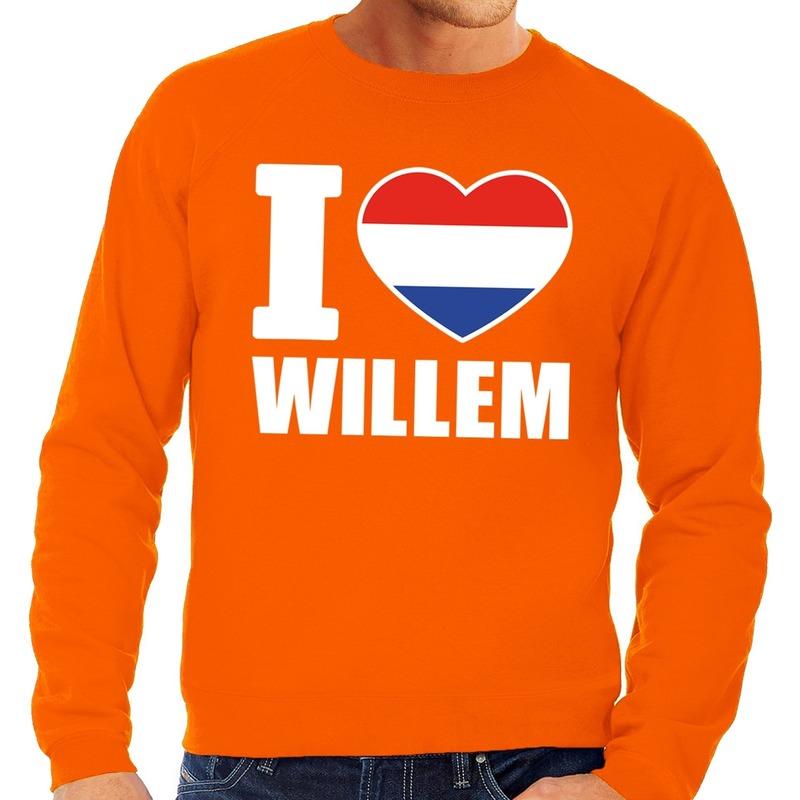 Oranje I love Willem trui heren | Fun en Feest