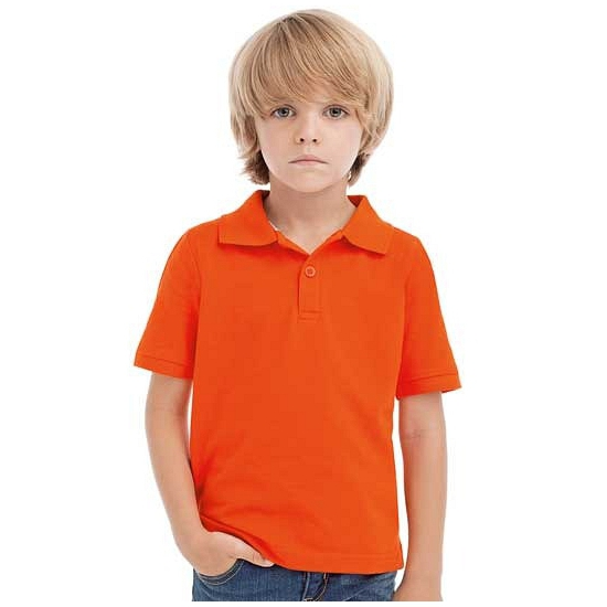 Oranje polo voor kinderen 128 (8 jaar) Oranje