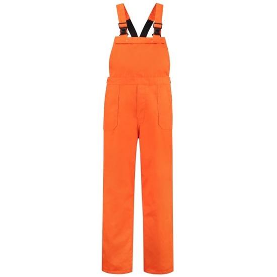 Oranje tuinbroek voor dames en heren S (36/48) Oranje