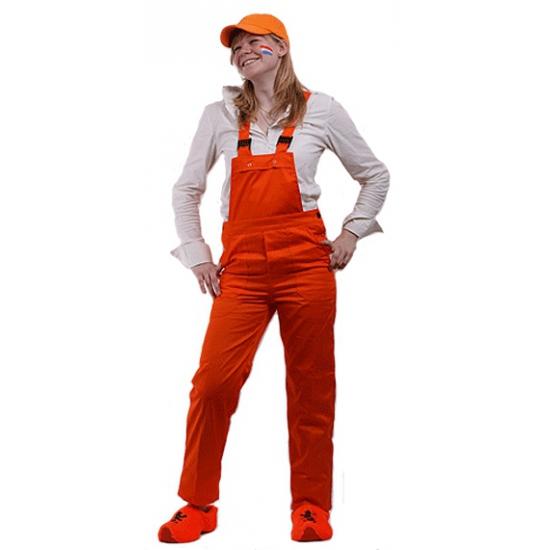 Oranje tuinbroek voor kinderen 164 Oranje