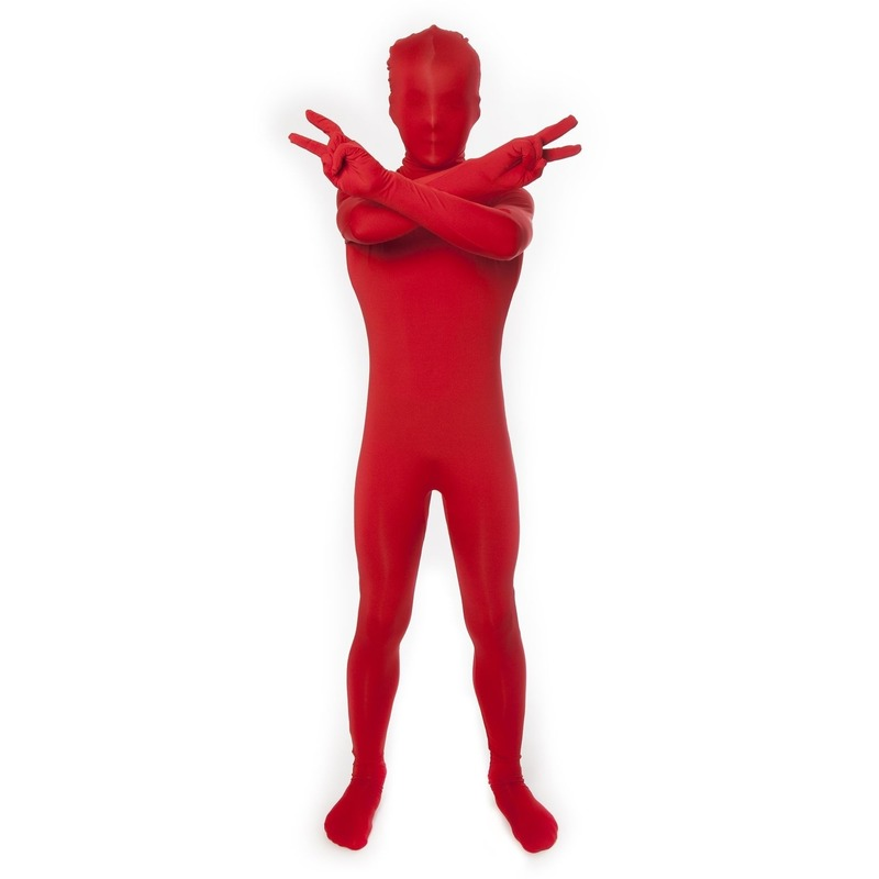 Originele kinder morphsuit rood 8-10 jaar (140) Rood