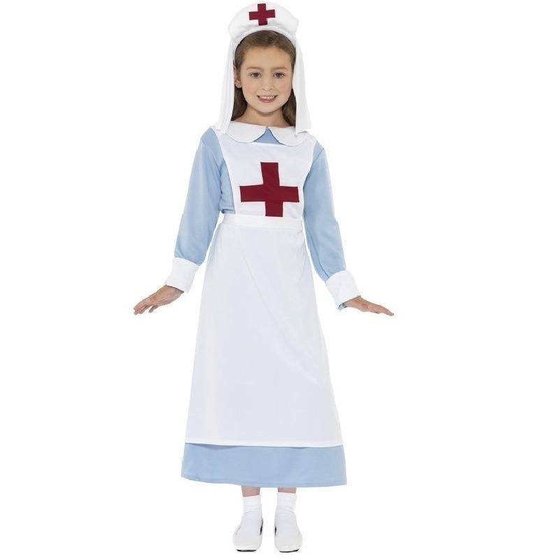 Ouderwets zuster kostuum voor meisjes 115-128 (4-6 jaar) Multi