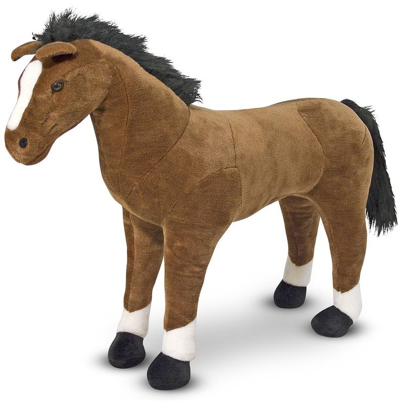 Paarden knuffel 99 cm knuffeldieren Multi