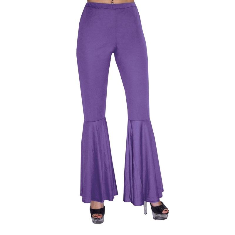 Paarse hippie broek voor kids 140 Paars