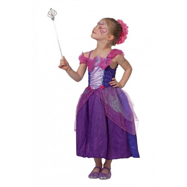 Paarse sprookjes jurk voor meisjes 128 Paars
