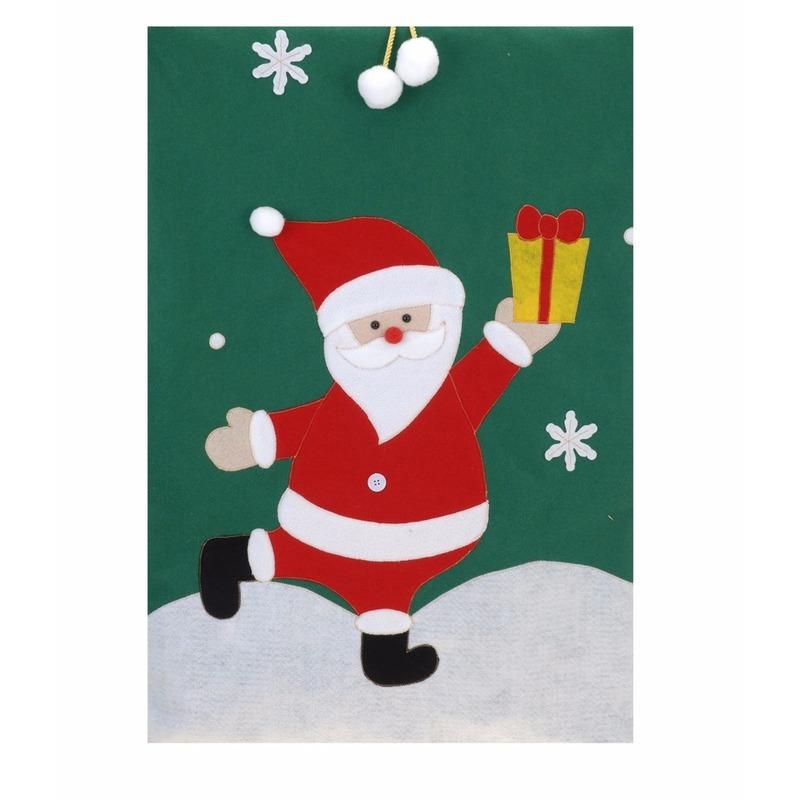 Pakjeszak Kerstman groen 97 cm Multi