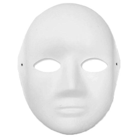 Papieren masker vrouwen gezicht Wit