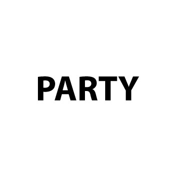Party tekst stickers