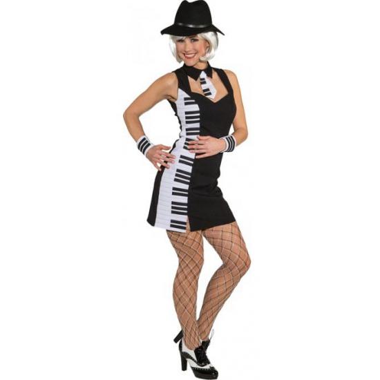 Piano outfit voor dames 38 (M) Zwart