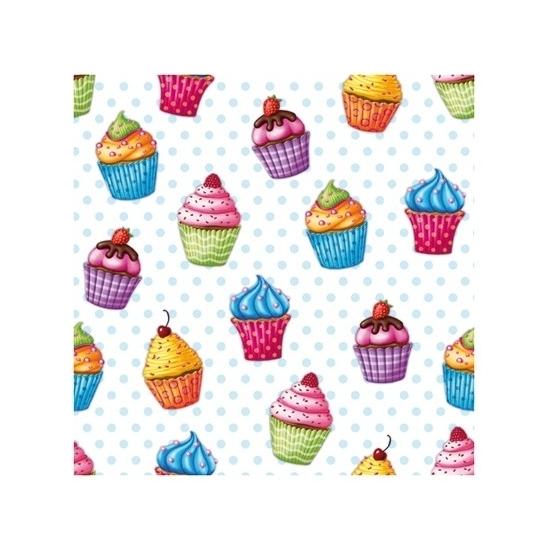Picknick servetten cupcakes 20x stuks -
