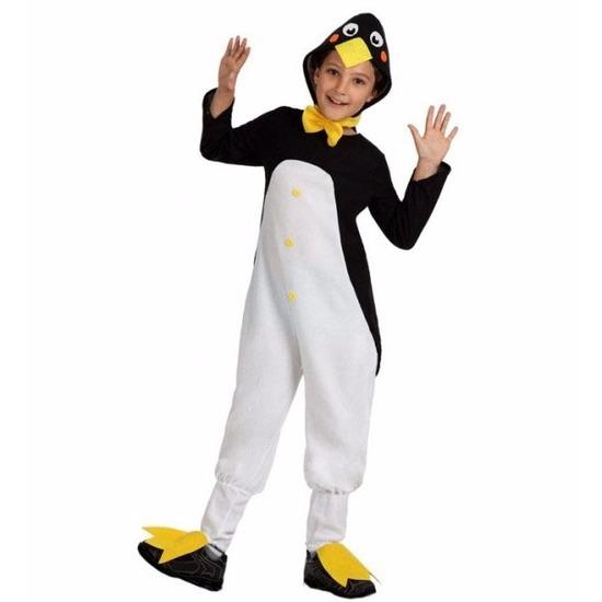 Pinguin Tux verkleedkleding voor kinderen 128 (7-9 jaar) Multi