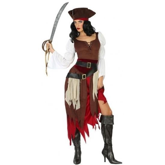 Piraten kostuum Francis voor dames XS/S (34-36) Multi