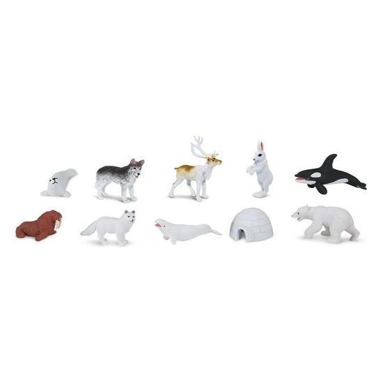 Plastic noord pool figuurtjes 10 stuks Multi