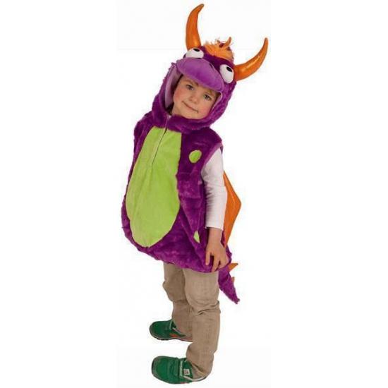 Pluche drakenpak voor kinderen One size Multi