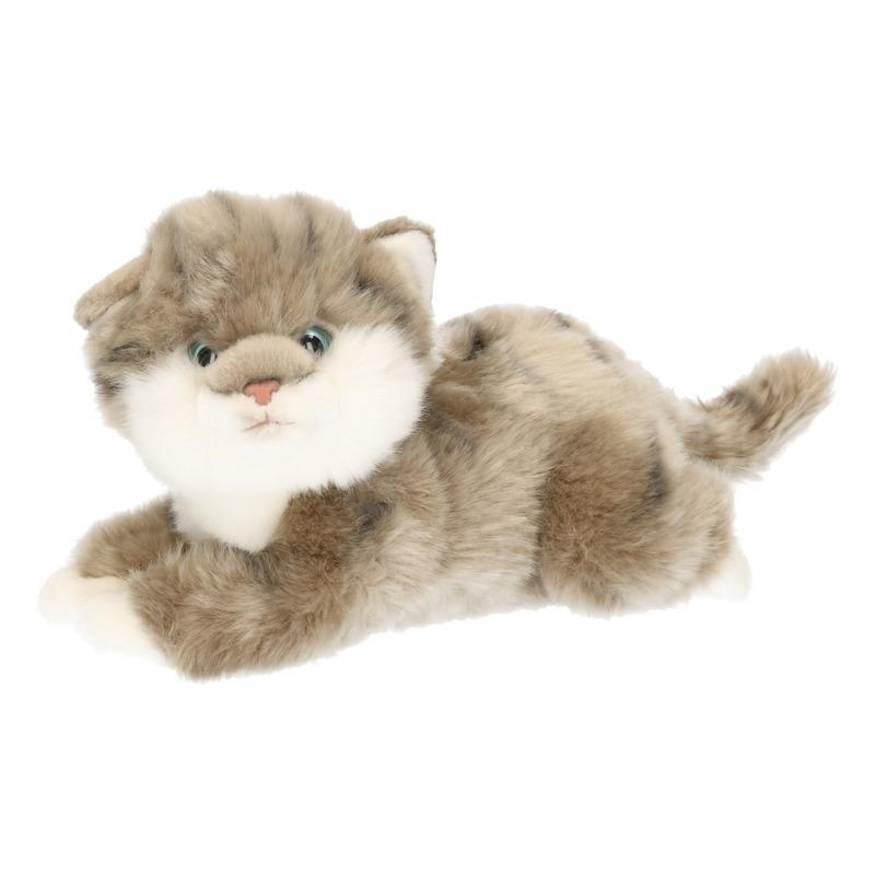Uitgelezene Pluche gestreepte poezen/katten/kittens knuffels grijs 27 cm | Fun TR-42