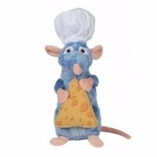 Pluche ratten Disney knuffel Remy Ratatouille 25 cm