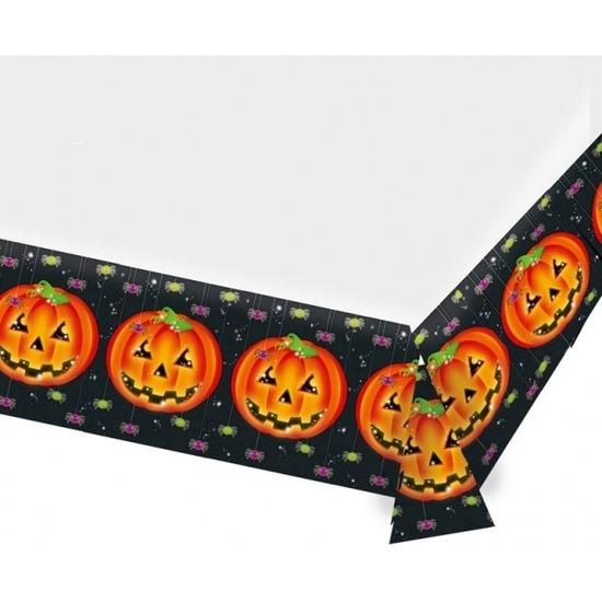 Pompoen tafelzeil/tafelkleed versiering 137 x 243 cm -