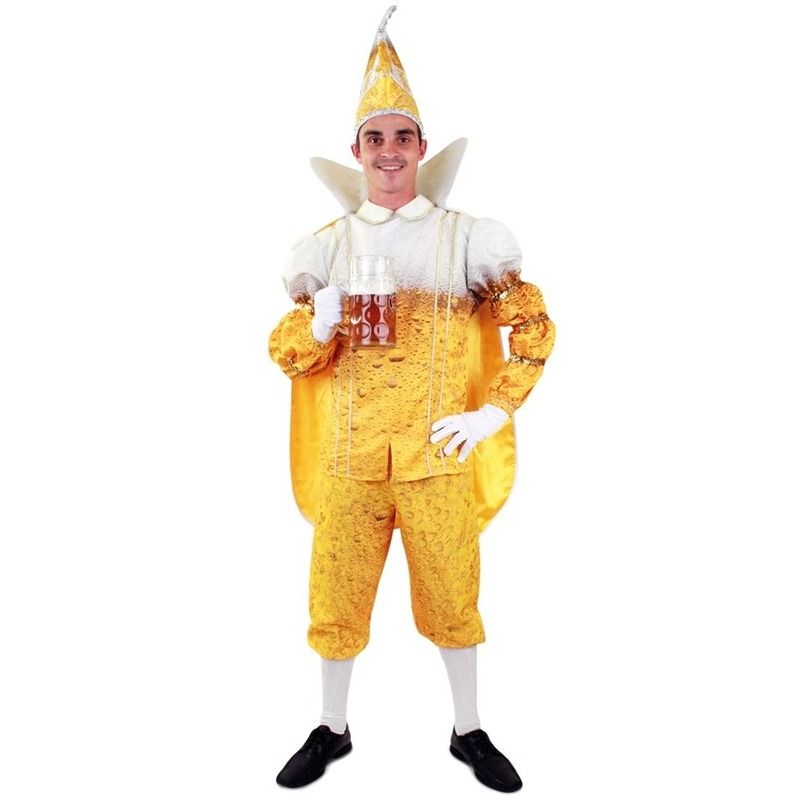 Prins Carnaval bier thema kostuum voor heren 54 (XL) Multi