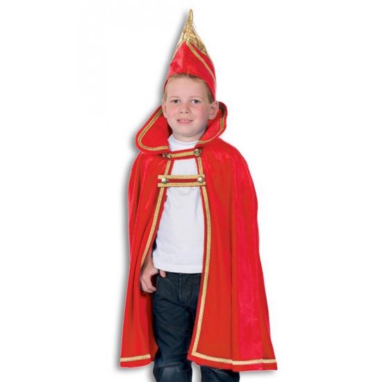 Prins carnaval kinder cape met hoed 128-140 Multi