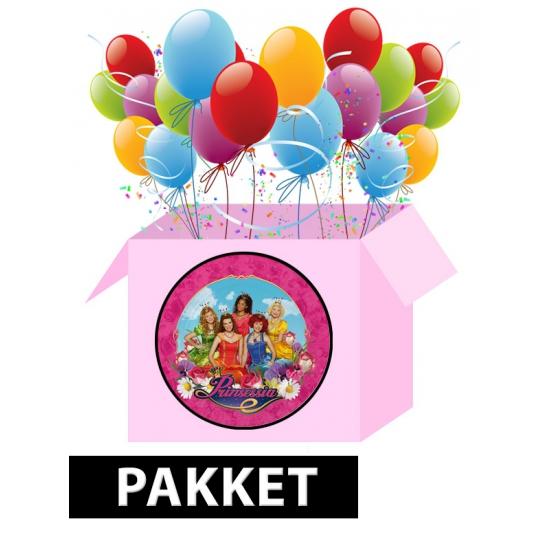 Prinsessia versiering pakket voor kinderfeestje Multi