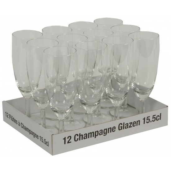 Prosecco glazen 10 + 2 gratis Multi