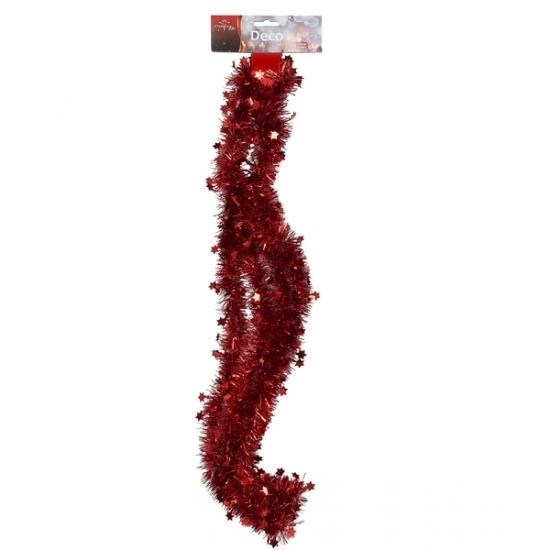 Rode kerstboom slinger 270 cm Rood