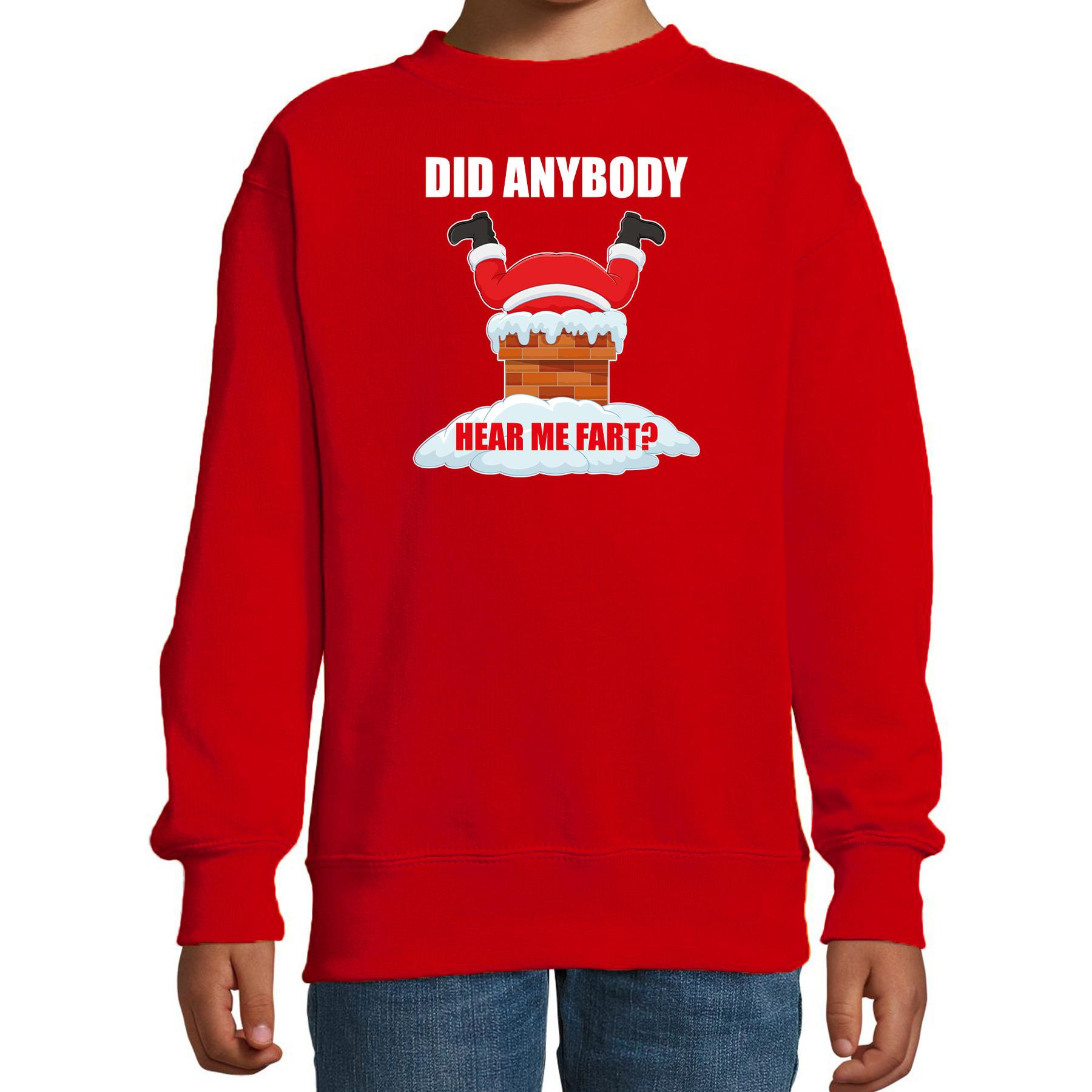 Rode Kersttrui - Kerstkleding Did anybody hear my fart voor kinderen 3-4 jaar (98/104) -