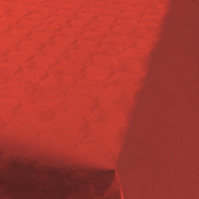 Rode thema versiering papieren tafelkleed 800 x 118 cm Rood