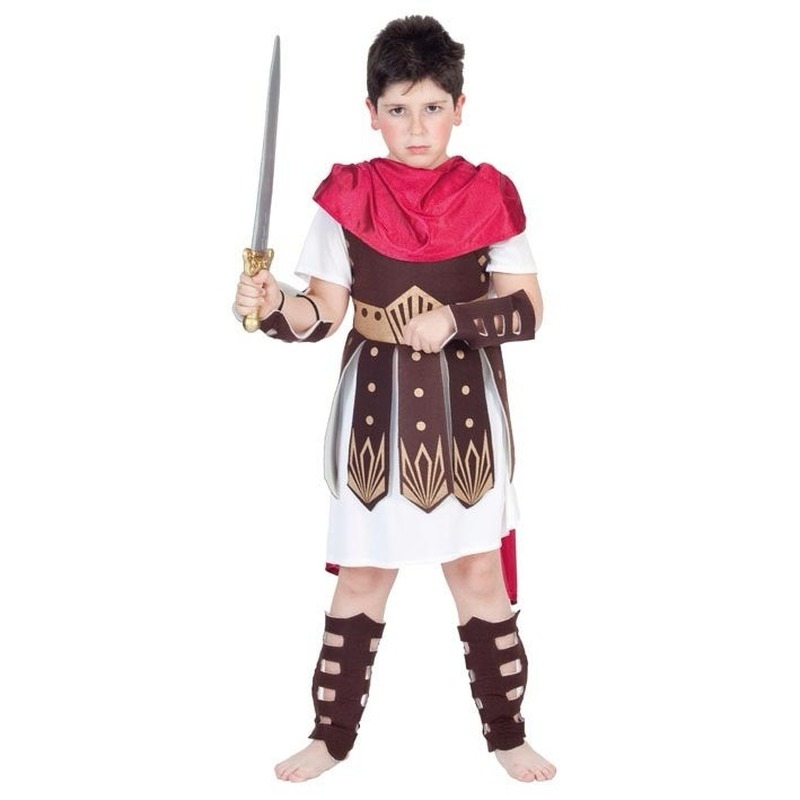 Romeins gladiator/ krijger kostuum kind 130-140 (10-12 jaar) Multi