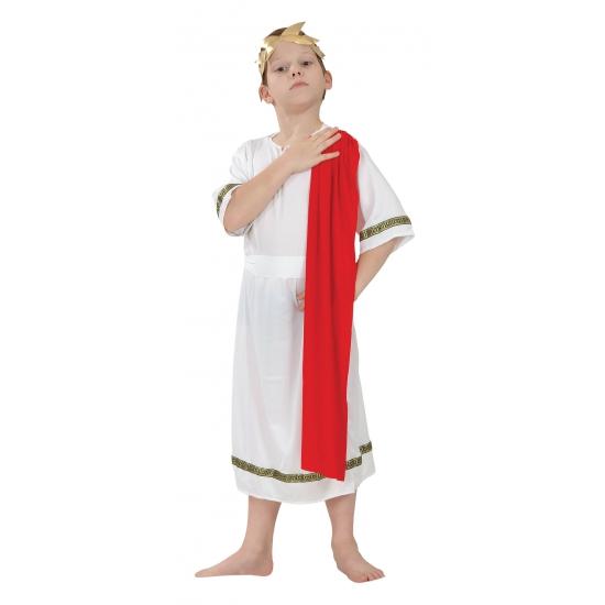 Romeinse keizer toga kostuum voor kids 128 - 6-8 jr Multi