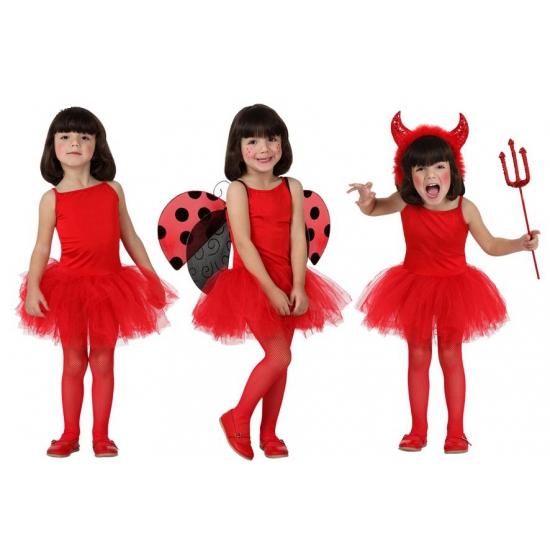Rood ballet kostuum voor meisjes 128 (7-9 jaar) Rood
