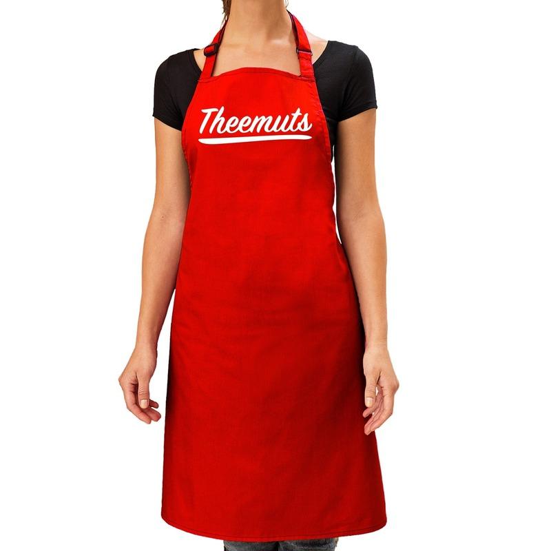 Rood keukenschort Theemuts voor dames Rood