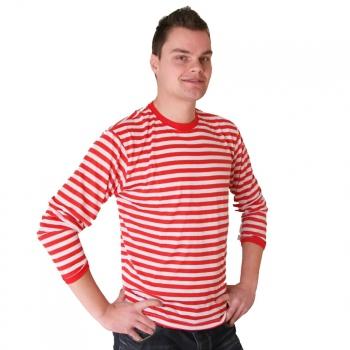 Rood met wit gestreepte Dorus trui voor heren Multi