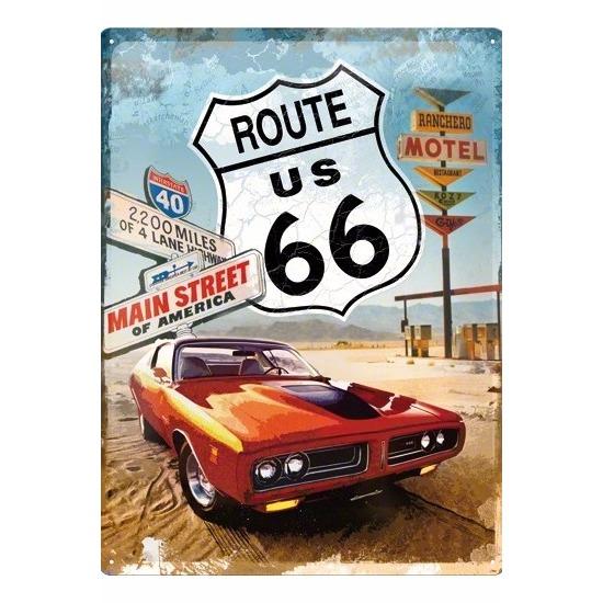 Route 66 metalen plaat voor aan de muur Multi