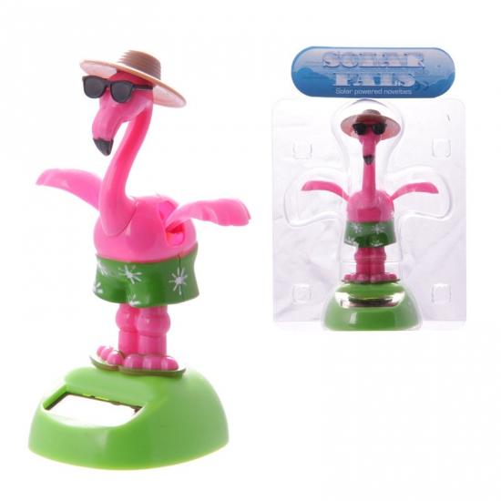 Roze flamingo op zonne energie - Fopartikelen