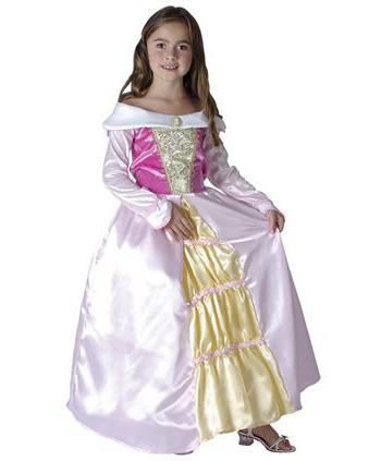 Roze prinsessen jurk 128 - 6-8 jr Roze