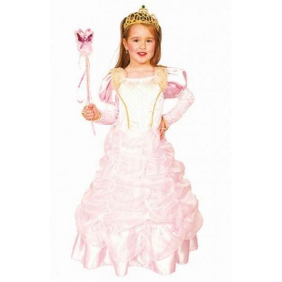 Roze prinsessenjurkje deluxe 104 (4 jaar) Roze