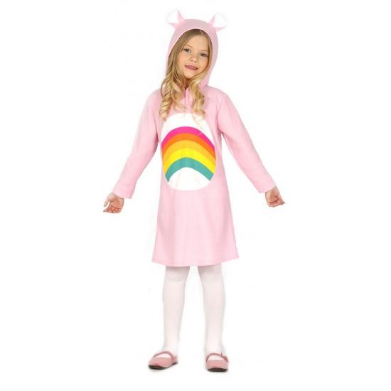 Roze regenboog jurkje voor meisjes 98-104 (3-4 jaar) Roze
