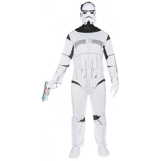 Ruimte soldaat outfit voor heren M/L (T-04) Wit