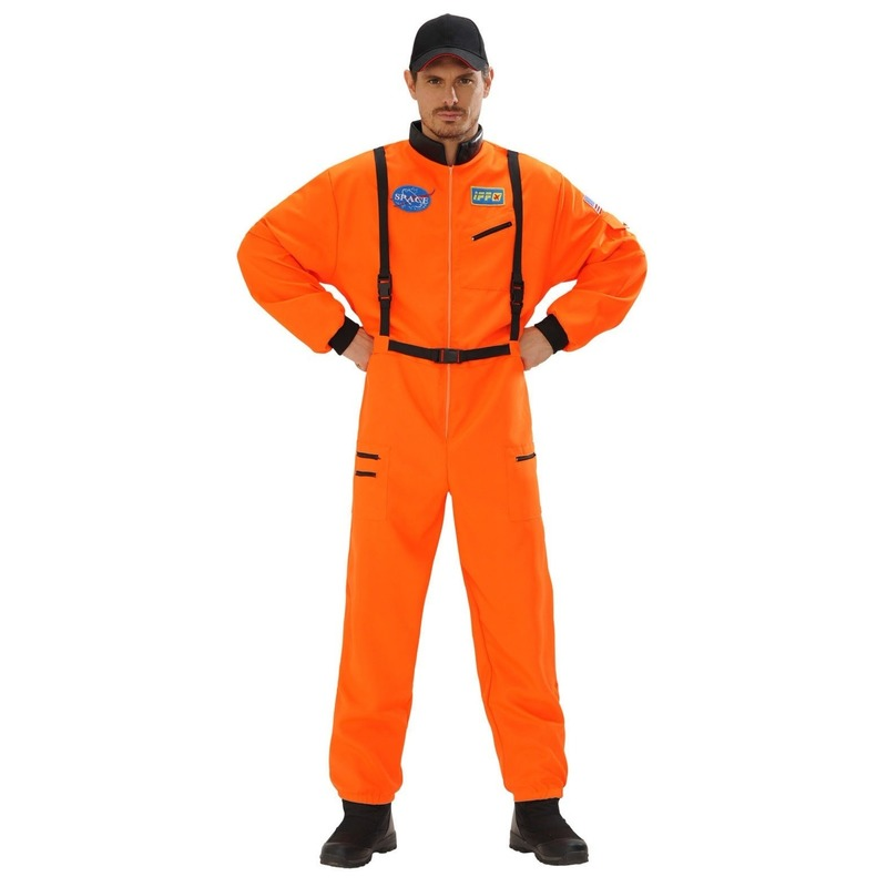 Ruimtevaart kostuum oranje voor heren 54 (XL) Oranje