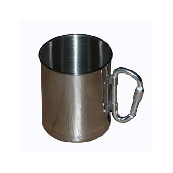 RVS beker met karabijnhaak Zilver