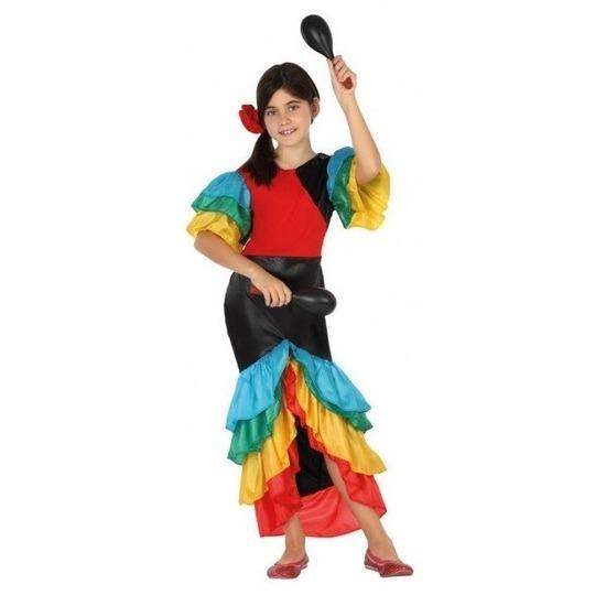 Samba/rumba/flamenco dans kostuum voor meisjes 128 (7-9 jaar) Multi