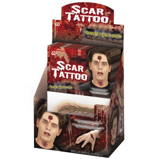Scars plak tattoo stickers Multi