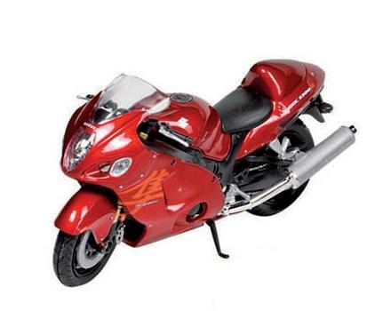 Schaalmodel Suzuki motor 1:18 Rood