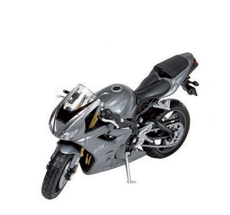 Schaalmodel Triumph 675 motor 1:18 Zilver